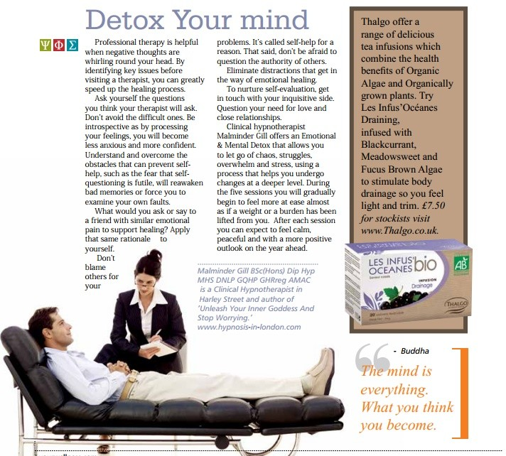 YourWellness Detox Your Mind With Harley Street London Hypnotherapist Malminder Gill